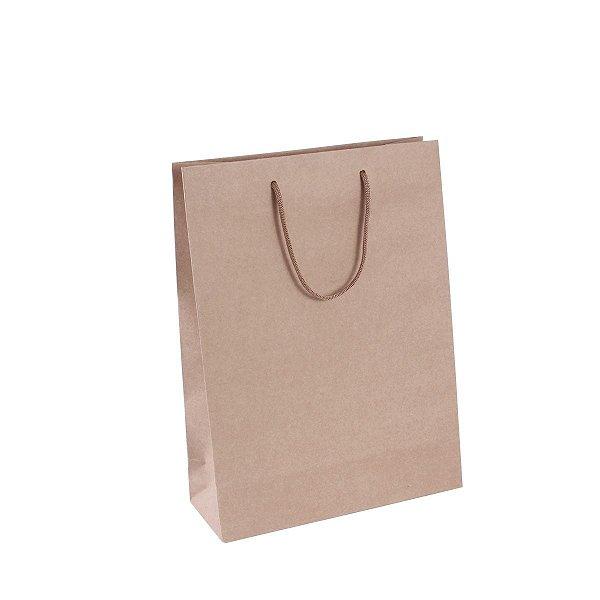 Sacola de papel kraft  22,2x29,5x9cm