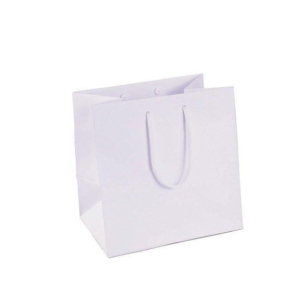 Sacola de papel 21X21X15cm - branca