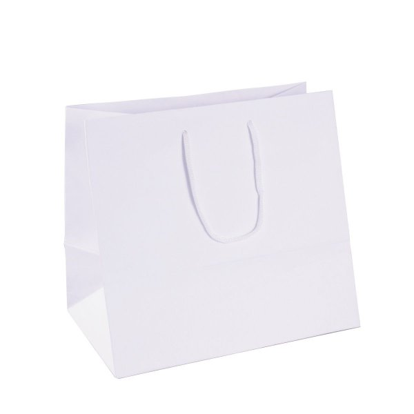 Sacola de papel 26X24X17,5cm - branca