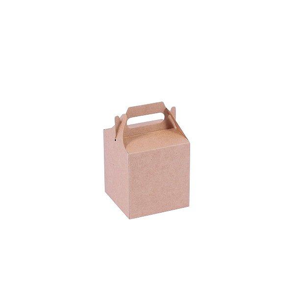 Embalagem de presente 8,2x7,6x7,6cm - kraft