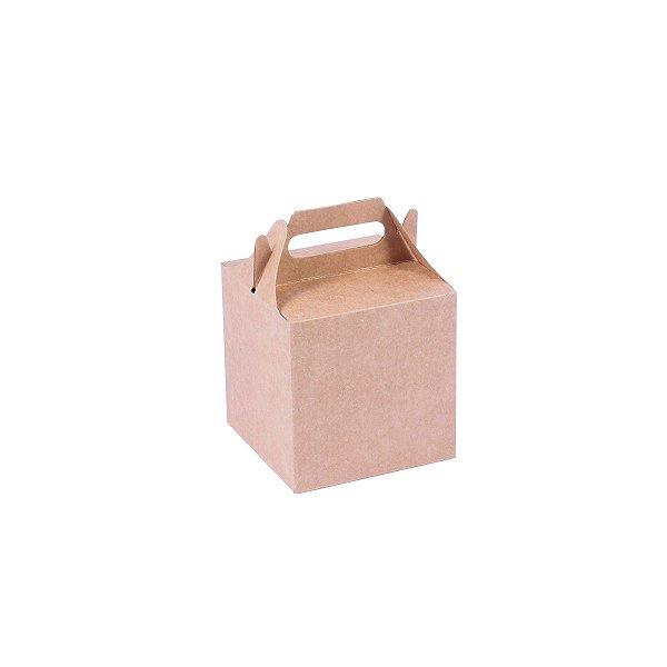 Embalagem de presente 9,2x9,1x9,1cm - kraft
