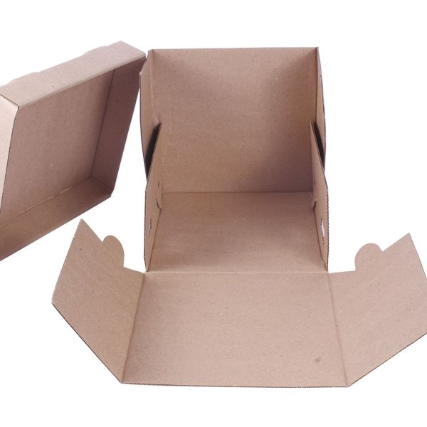 Embalagem p/ Torta 20,5x20,5x20cm - kraft