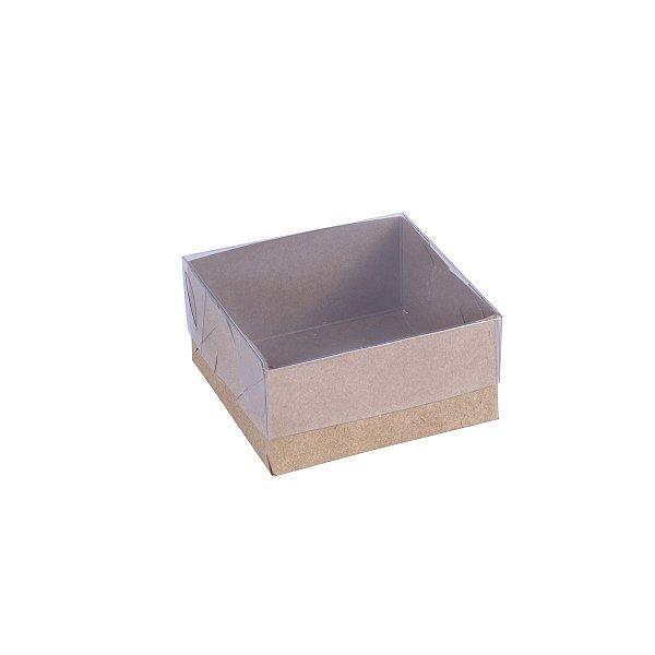 Embalagem para doces 8x8x4cm - 4 doces - kraft