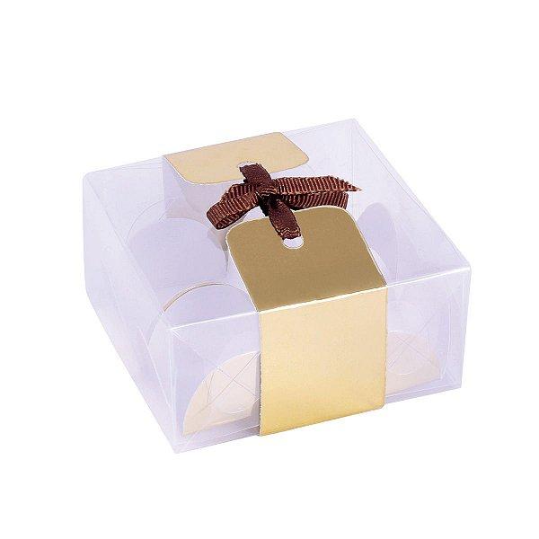 Embalagem para docinhos 10,2x4x4cm - 3 doces - 10 unid.