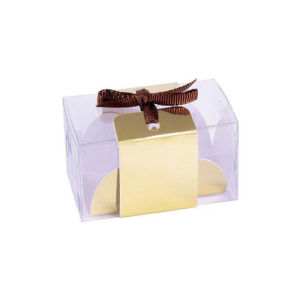 Embalagem para docinhos 7x3,8x4cm - 2 doces - branca - 10 unid.