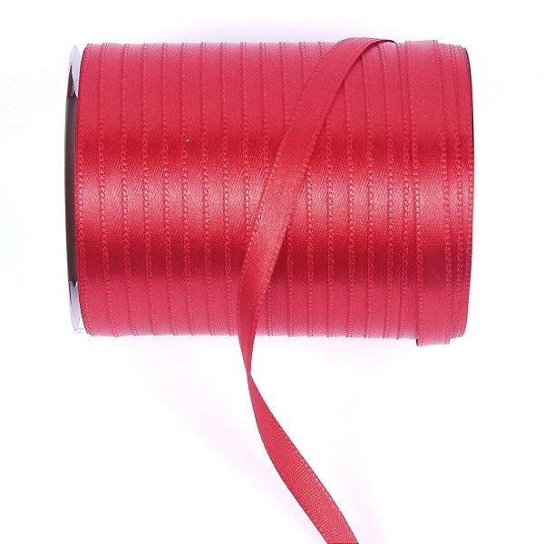 Fita de cetim Gitex nº1 - 6mm c/100mts - 107 vermelha