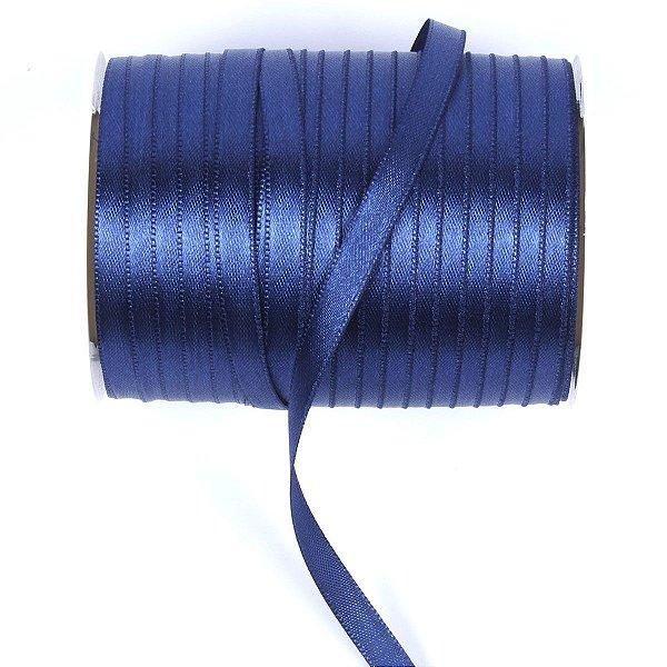Fita de cetim Gitex nº1 - 6mm c/100mts - 120 azul marinho