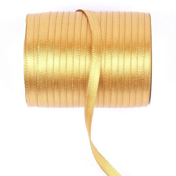 Fita de cetim Gitex nº1 - 6mm c/100mts - 145 ouro