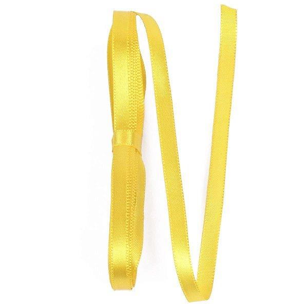 Fita de cetim Gitex nº1 - 7mm c/10mts - 109 amarela