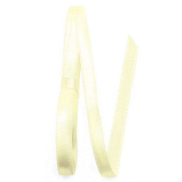 Fita de cetim Gitex nº1 - 7mm c/10mts - 116 amarelo bebê