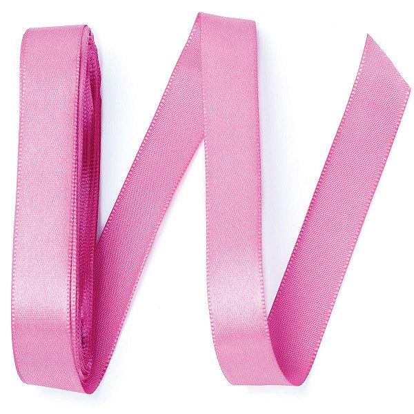 Fita de cetim Gitex nº3 - 15mm c/10mts -  182 rosa