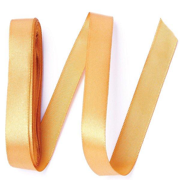 Fita de cetim Gitex nº3 - 15mm c/10mts - 145 ouro