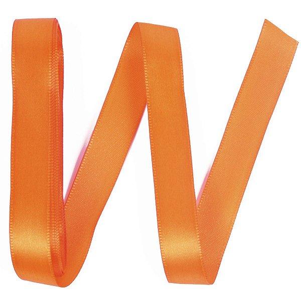 Fita de cetim Gitex nº3 - 15mm c/10mts - 179 laranja