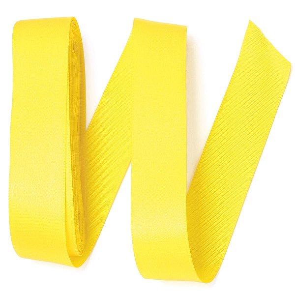 Fita de cetim Gitex nº5 - 23mm c/10mts - 109 amarela