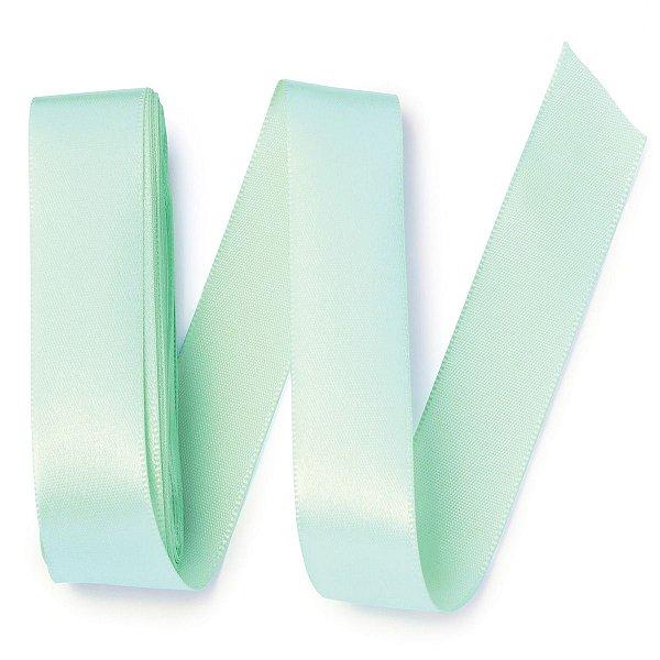 Fita de cetim Gitex nº5 - 23mm c/10mts - 126 verde água bebê