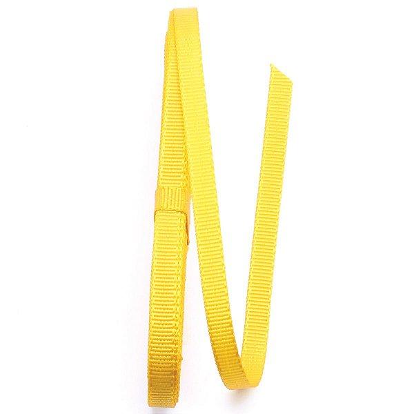 Fita de gorgurão Sinimbu nº1 - 6mm c/10mts - 005 amarela