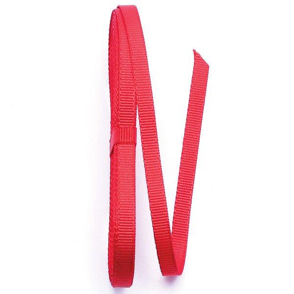 Fita de gorgurão Sinimbu nº1 - 6mm c/10mts - 976 vermelha