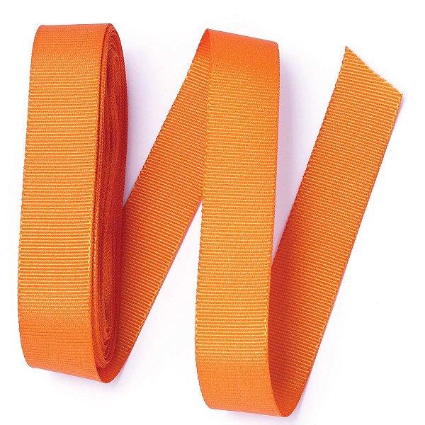 Fita de gorgurão Sinimbu nº5 - 22mm c/10mts - 1417 laranja