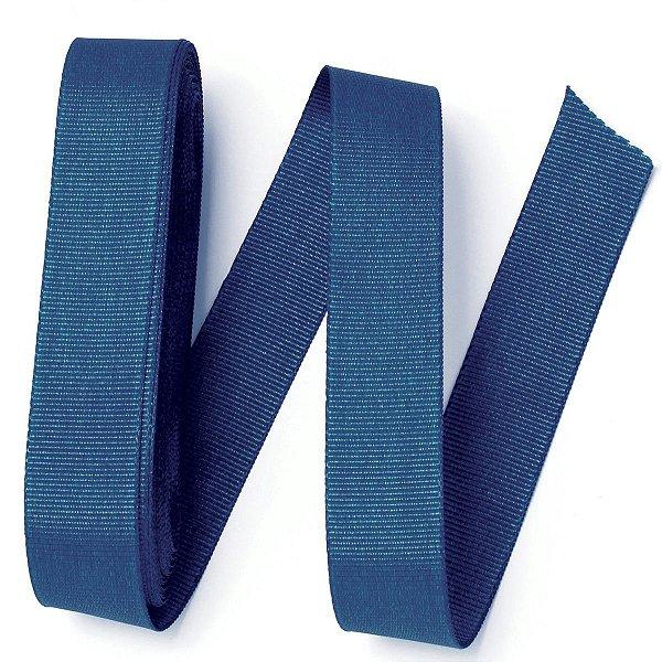 Fita de gorgurão Sinimbu nº5 - 22mm c/10mts - 1722 azul marinho