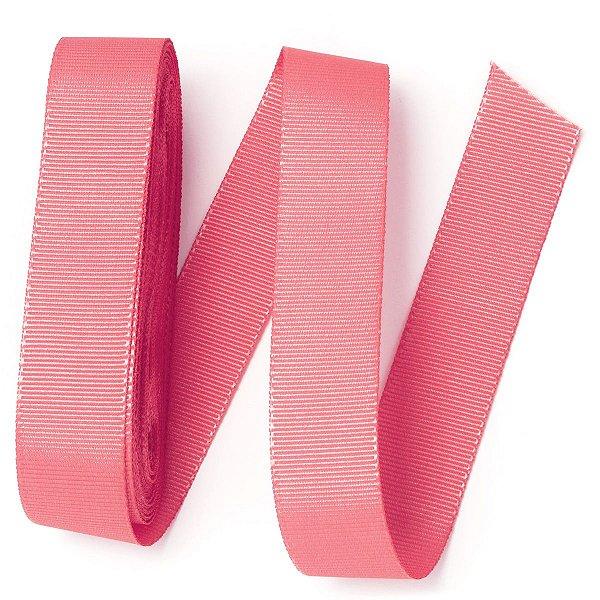 Fita de gorgurão Sinimbu nº5 - 22mm c/10mts - 2784 rosa