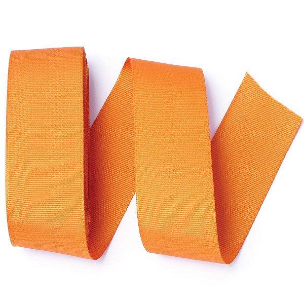 Fita de gorgurão Sinimbu nº9 - 38mm c/10mts - 1417 laranja
