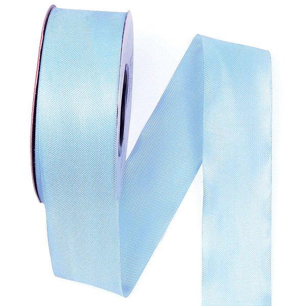 Fita de tafetá Fitex - 36mm c/50mts - azul celeste