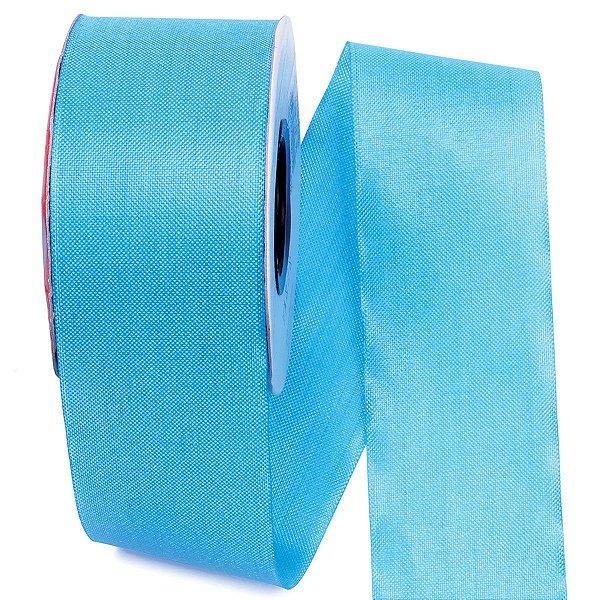 Fita de tafetá Fitex - 49mm c/50mts - azul turquesa