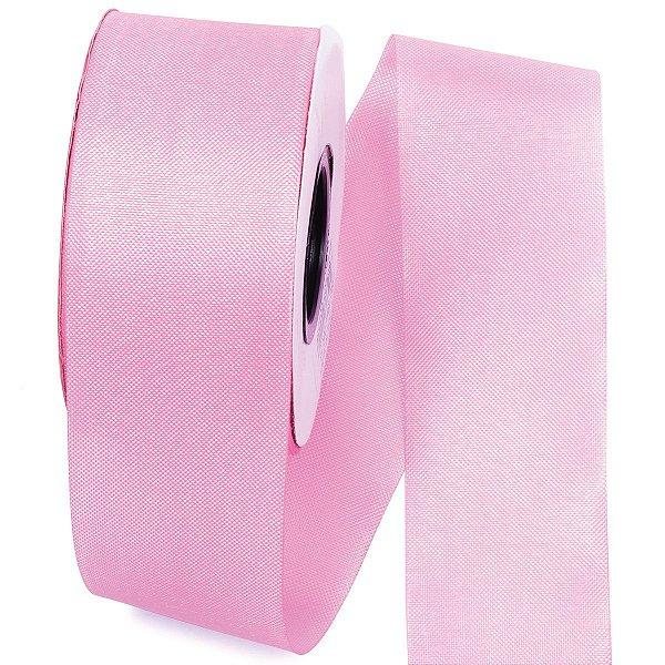 Fita de tafetá Fitex - 49mm c/50mts - rosa bebê