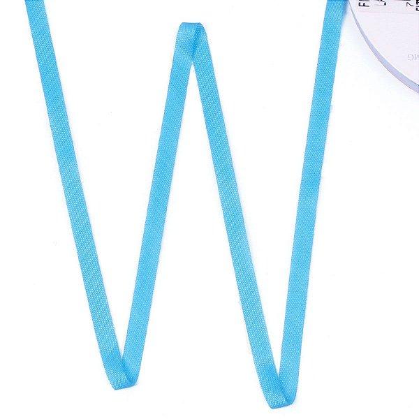 Fita de tafetá Fitex - 6mm c/50mts - azul turquesa