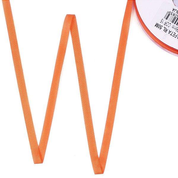 Fita de tafetá Fitex - 6mm c/50mts - laranja