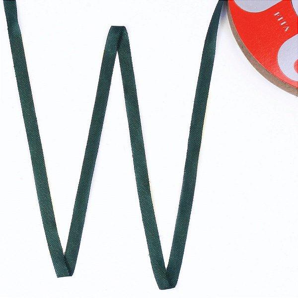 Fita de tafetá Fitex - 6mm c/50mts - verde musgo