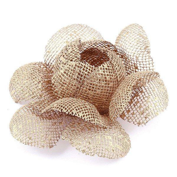 Forminhas para doces Camélia Chanel Tela- dourada