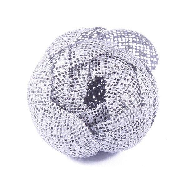 Forminhas para doces Camélia Fechada Tela  - prata