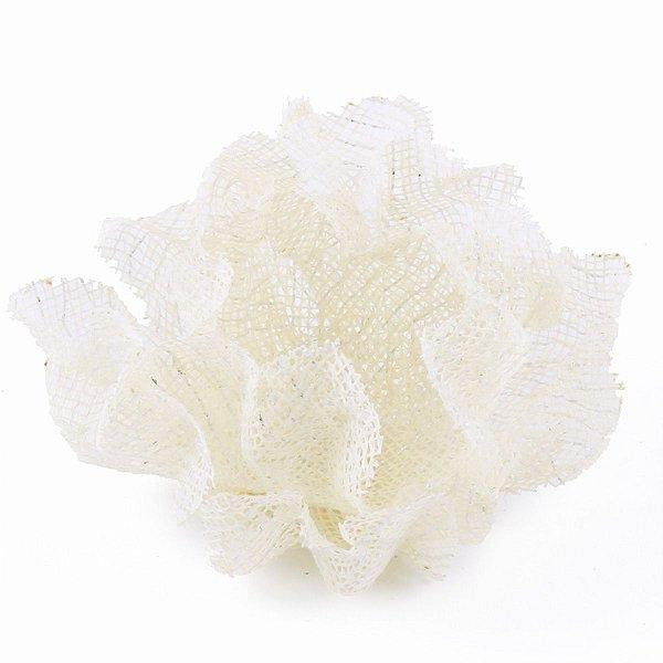 Forminhas para doces Luna Tela - marfim c/ fio prata