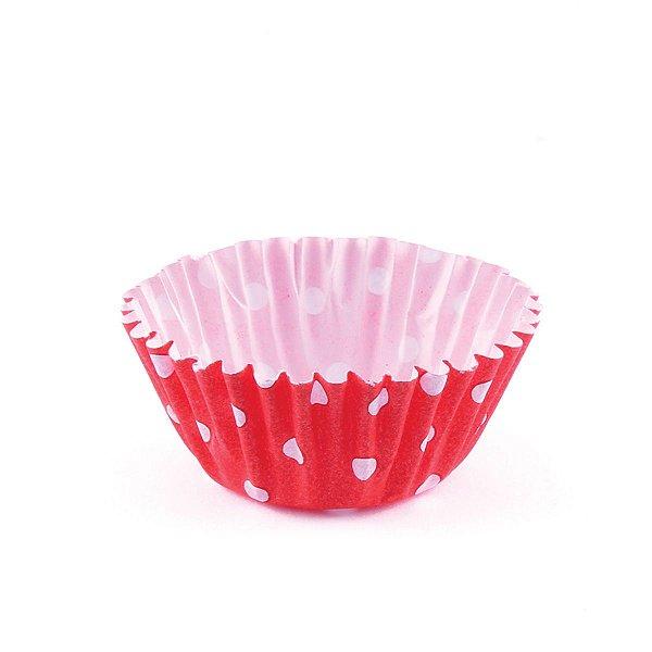 Forminhas para doces nº5 - poa vermelha com branco