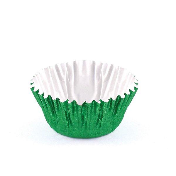 Forminhas para doces nº5 metalizada - verde