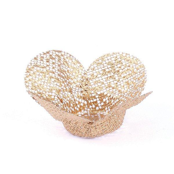 Forminhas para doces Tela Flor - dourada