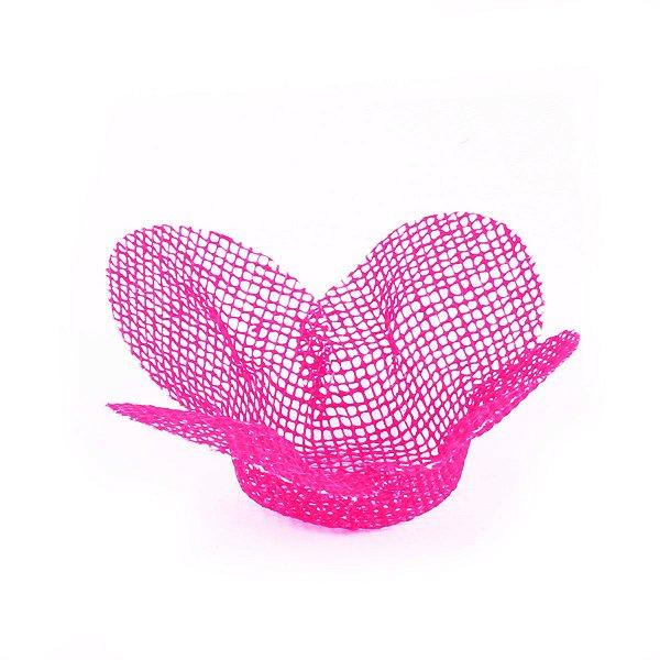 Forminhas para doces Tela Flor - rosa cítrico