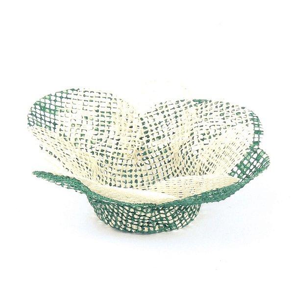 Forminhas para doces Tela Flor - verde c/ champagne
