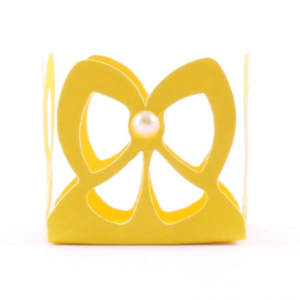 Forminhas para doces vasada Laçarote - amarela