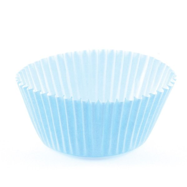 Forminhas para mini cupcake - azul bebê