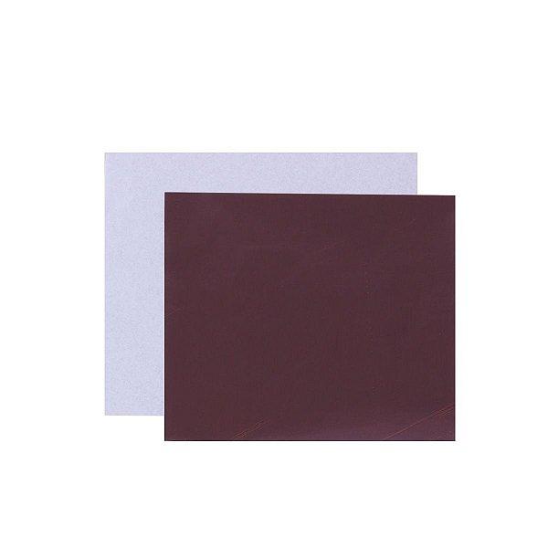 Papel chumbo para bombons 8X7,8cm - marrom