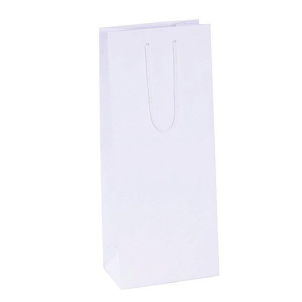 Sacola de papel para 2 garrafas 16X39X10cm - branca