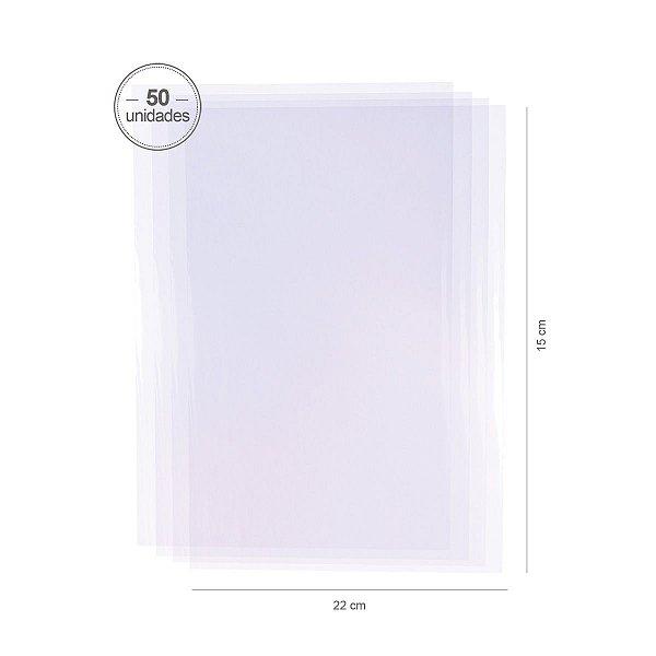 Saco transparente 15X22cm - 50 unid.