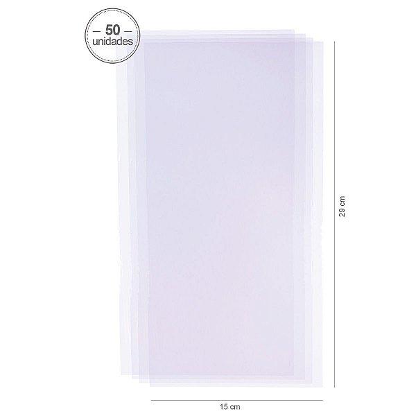 Saco transparente 15X29 cm - 50 unid.