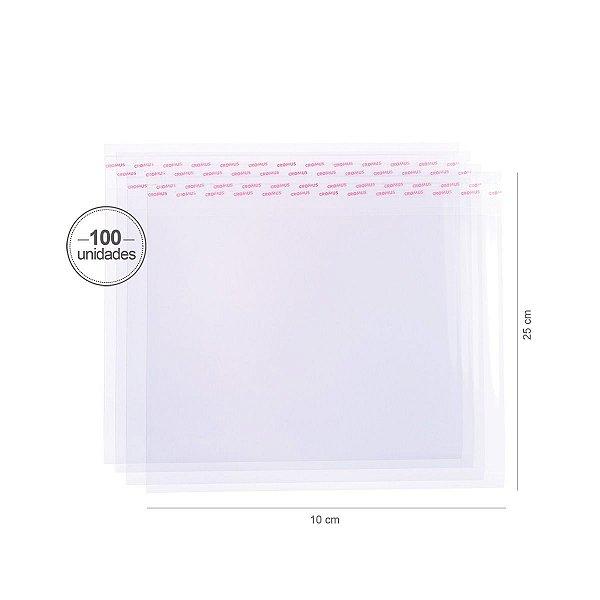 Saco transparente c/ aba adesiva  20X15cm - 100 unid. - Cromus