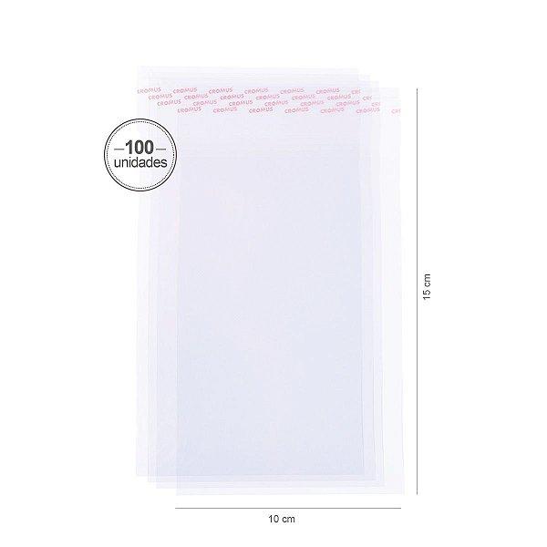Saco transparente c/ aba adesiva 10X15cm - 100 unid. - Cromus