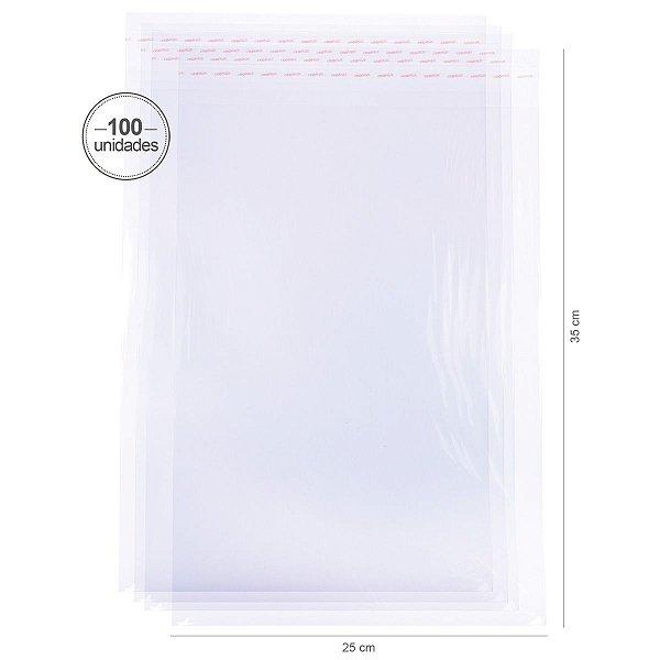 Saco transparente c/ aba adesiva 6X12cm - 100 unid. - Cromus