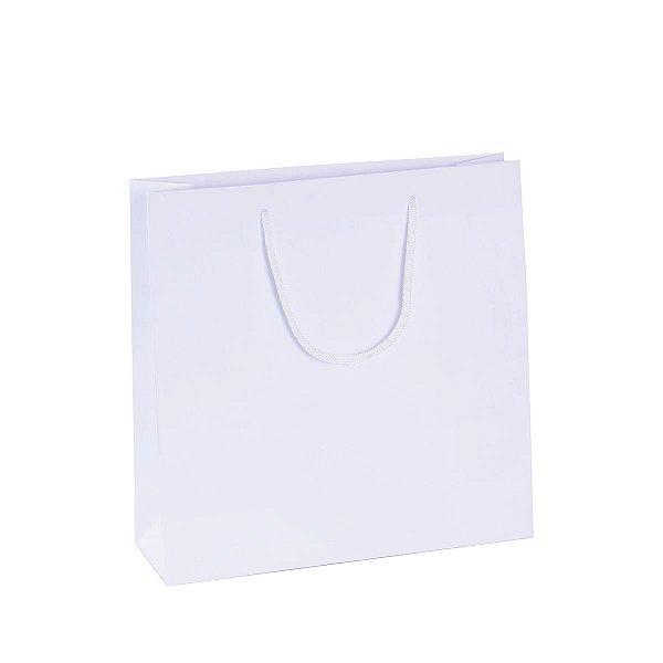 Sacola de papel  27X27X9cm - branca