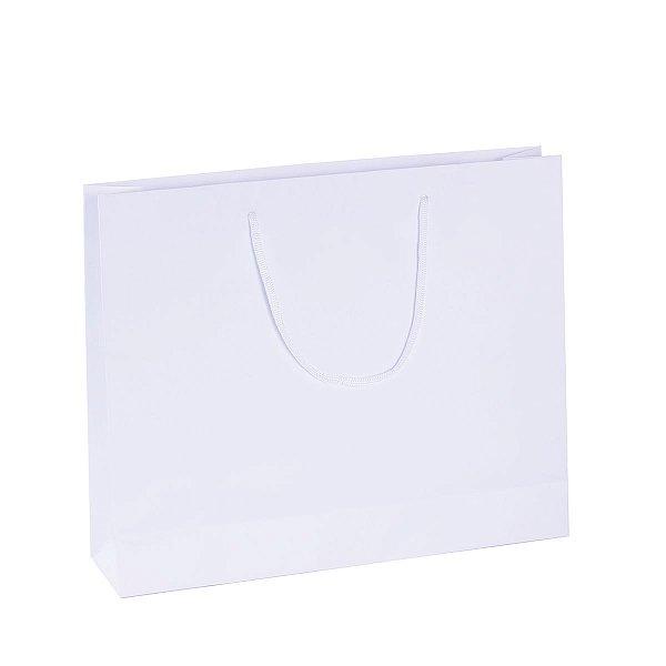 Sacola de papel  33X27,5X8cm - branca